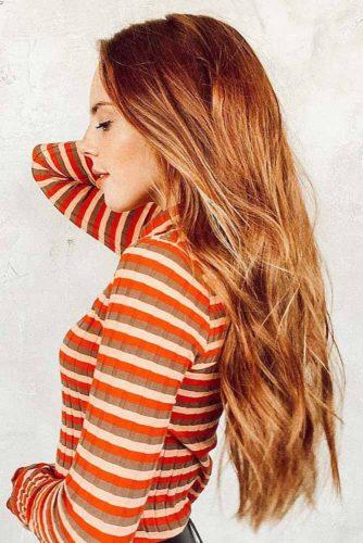 Sweet Reddish Brown #redhair #longhair #balayage