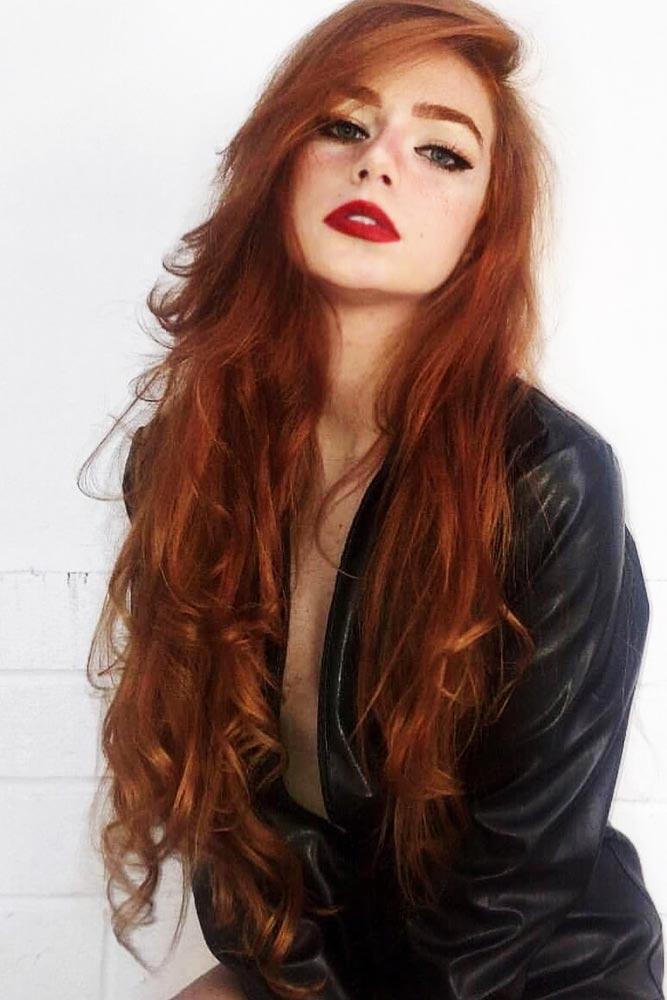 Medium Reddish Tone #redhair #longhair #wavyhair