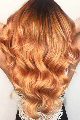 Rose Gold, The Color Of Now #redhair #longhair #wavyhair