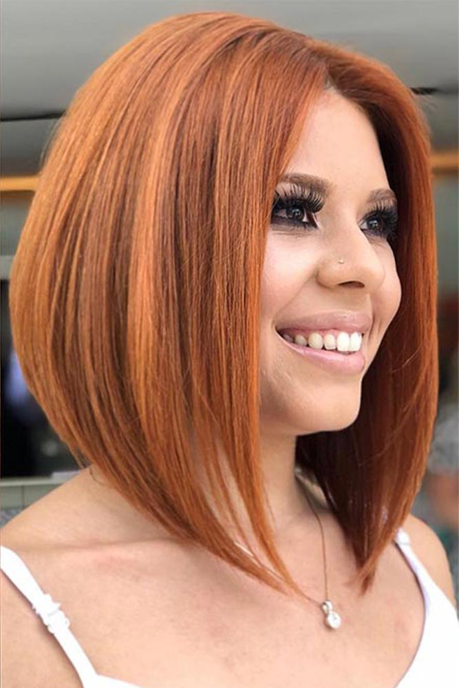 Gorgeous Brick Red Hair Tone #redhair #bob