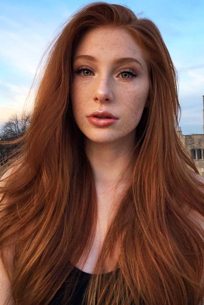 Natural Redhead #redhair #longhair
