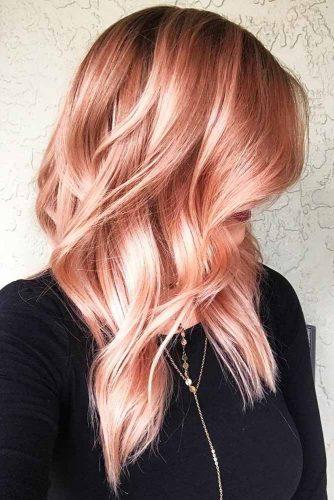 Peachy Red Hair #redhair #wavyhair