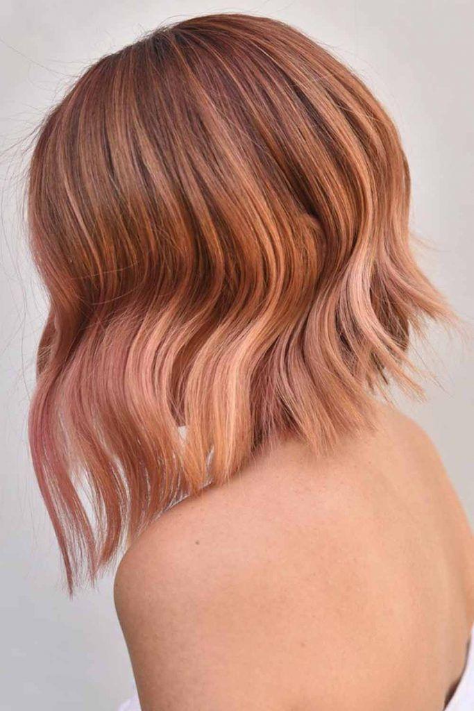 Seductive Strawberry Blonde Bob #summerhaircolors