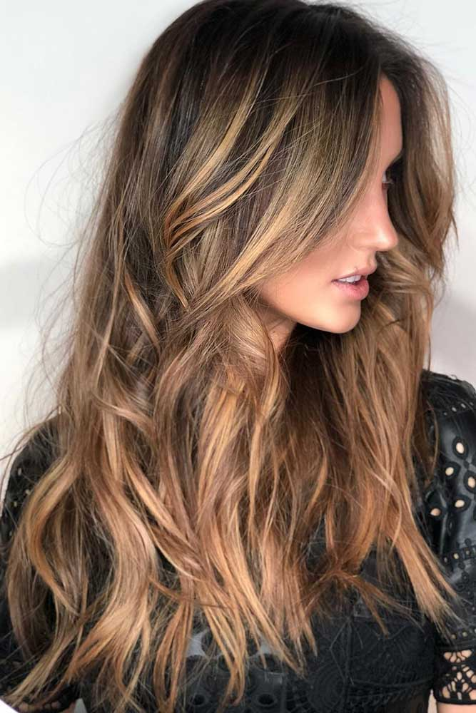 Light Brown Hair With Highlights #longhair #wavyhair #highlights #brownhair