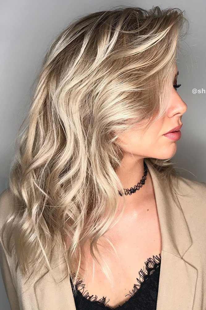 Light Ash Blonde Balayage Summer Hair Colors #ashblonde #balayage