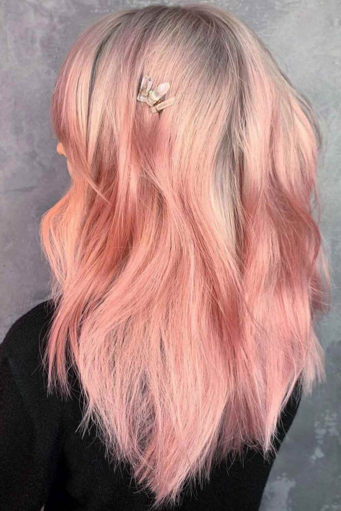 Fashionable Millennial Pink Layers #summerhaircolors