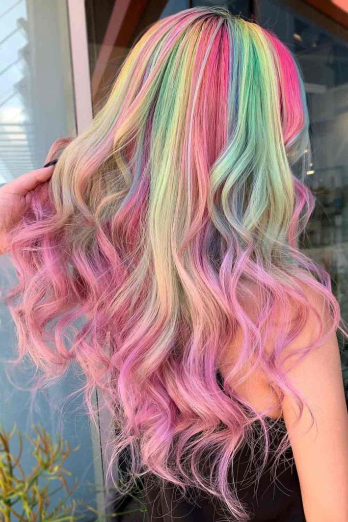 Pastel Cosmic Hair Colors Waves #summerhaircolors