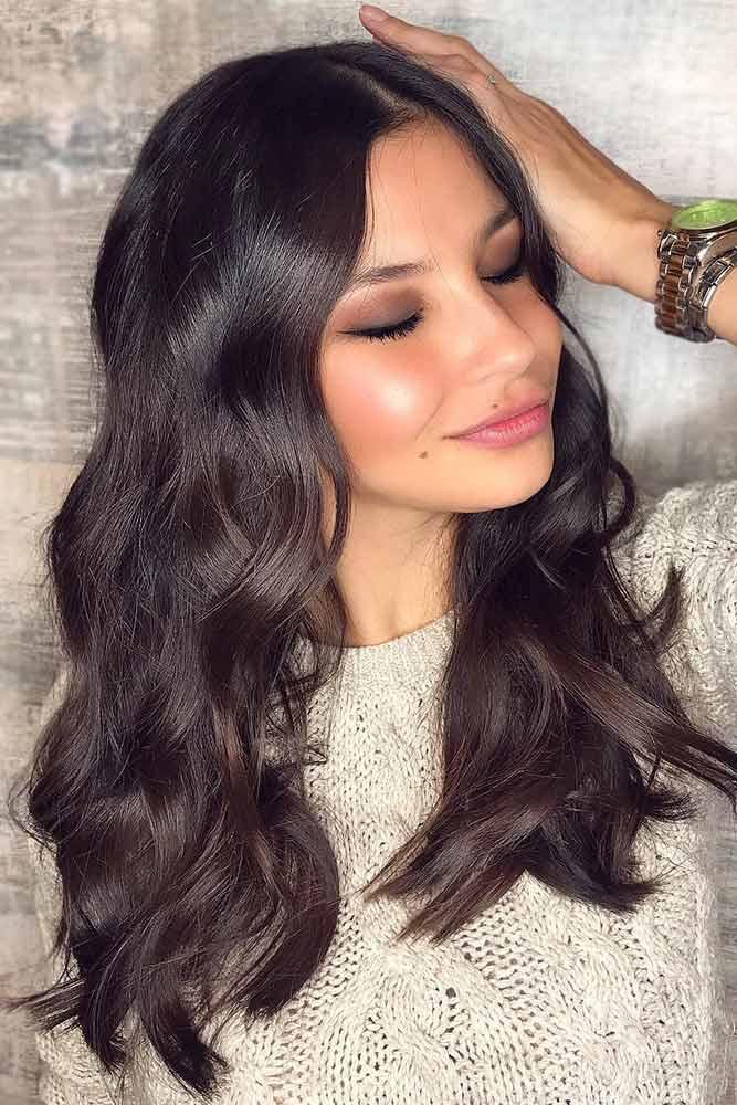 Dark Hair Is A Must Try #darkbrownhair #longhair #sleekhair