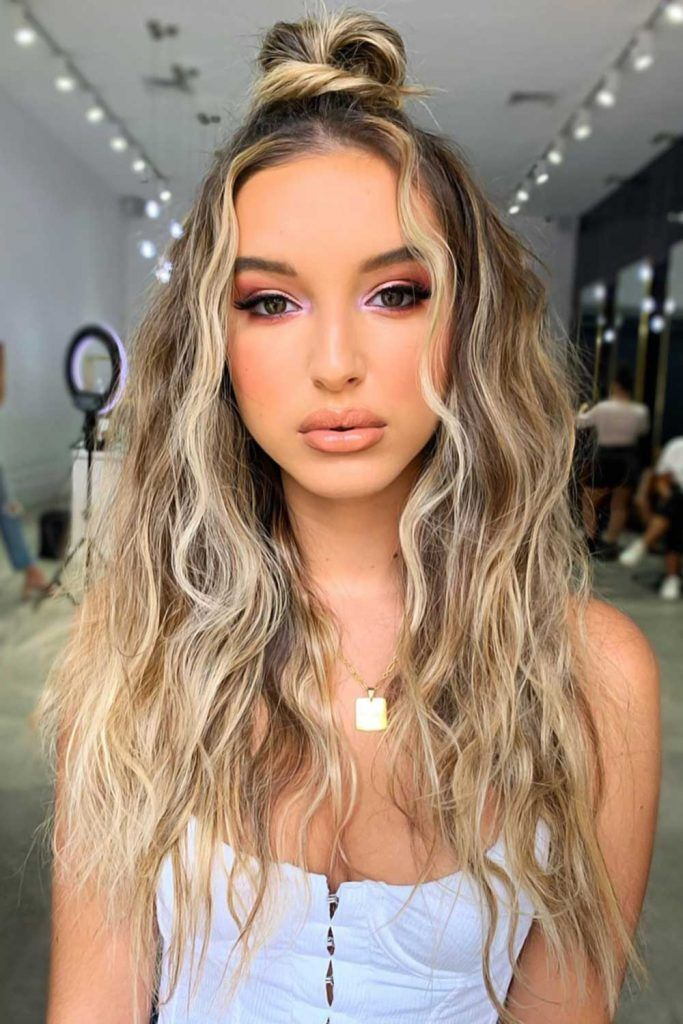 Hair Kissed By The Sun Half-Up #summerhaircolors