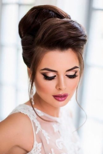 Classic Hairstyle For Wedding #updo #sidebang