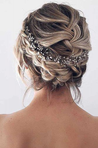 French Headband Braid Updo #weddinghair #updo #braids