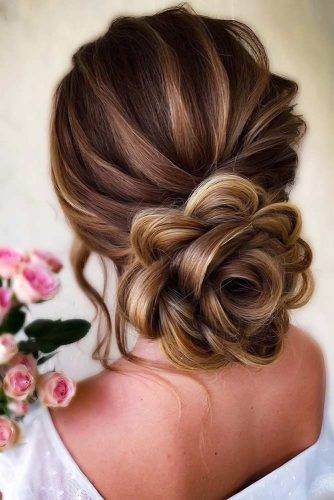 Low Rosette Bun #weddinghairstyles