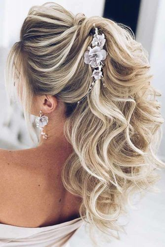 Twisted Hairstyle With Accessories #weddinghair