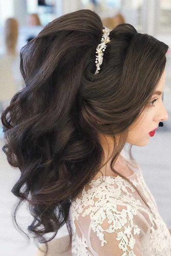 Voluminous Updo With Headband #weddinghair