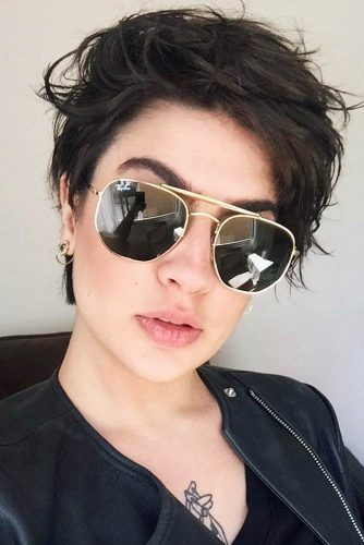 A Short Style For Every Day #pixiehairstyles #pixiecut #shorthair #shortpixie #brunettehair