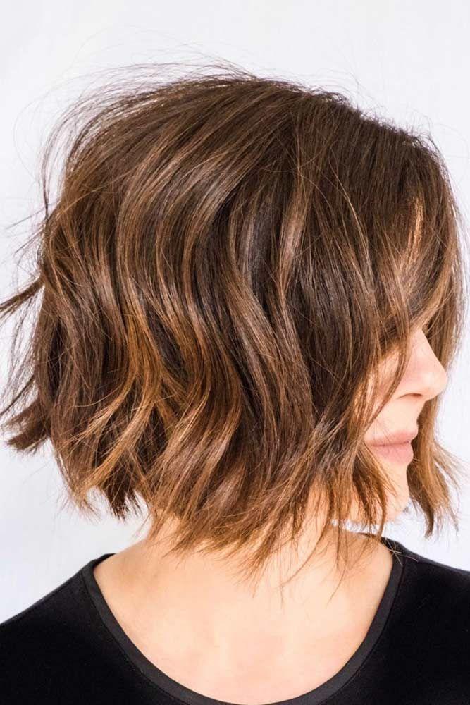 Textured A line Bob #shortwavyhair #wavyhair #haircuts #shorthair