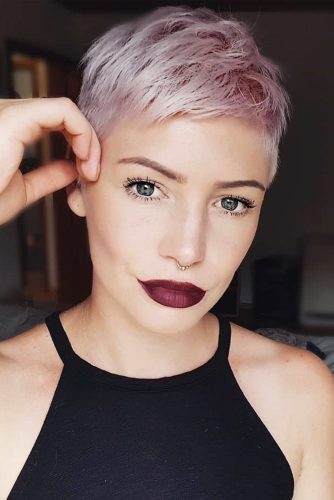 Short Pixie With Soft Rose Touch #shorthaircuts #shorthaircutsforgirls #haircuts #pixiehaircut #rosehair