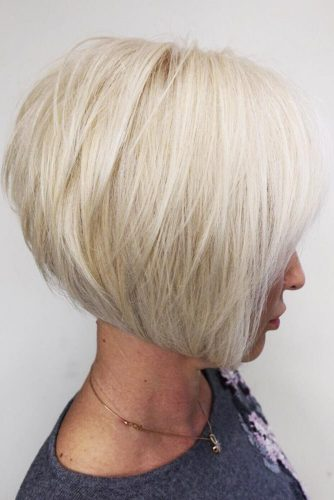Layered Bob With Long Side Bang For Thick Hair #bob #layeredhair #bangs