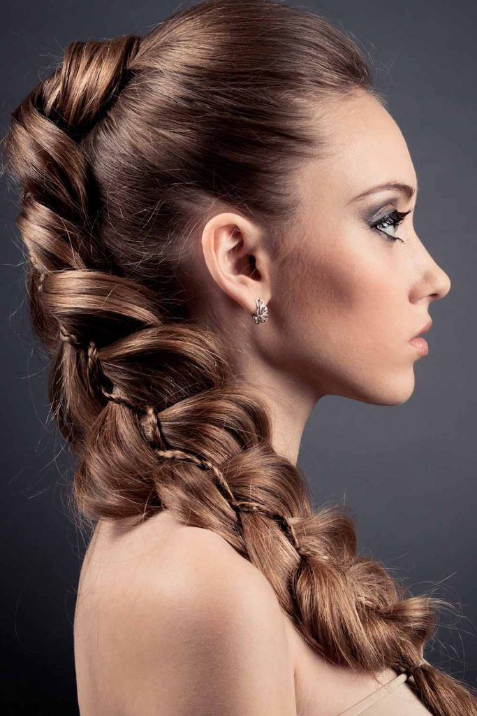 Fancy Mohawk Hairstyle For Long Hair