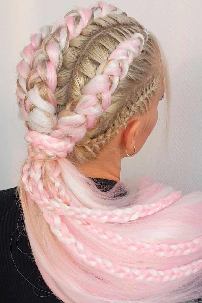 Bright And Colorful Tuxedo Braid