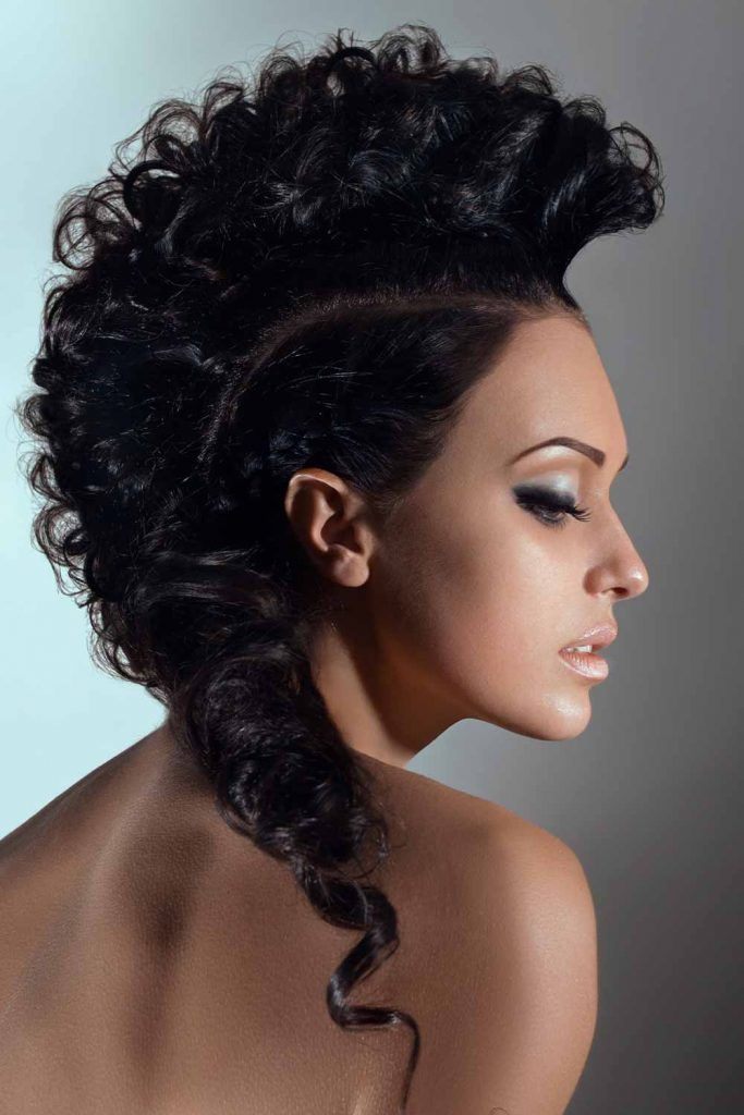 Chic Curly Mohawk Updo