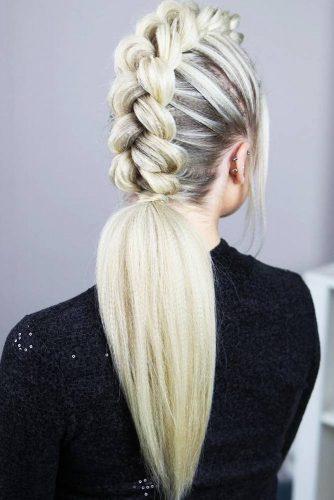Dutch Mohawk Braided Ponytail #longhair #braids #ponytail