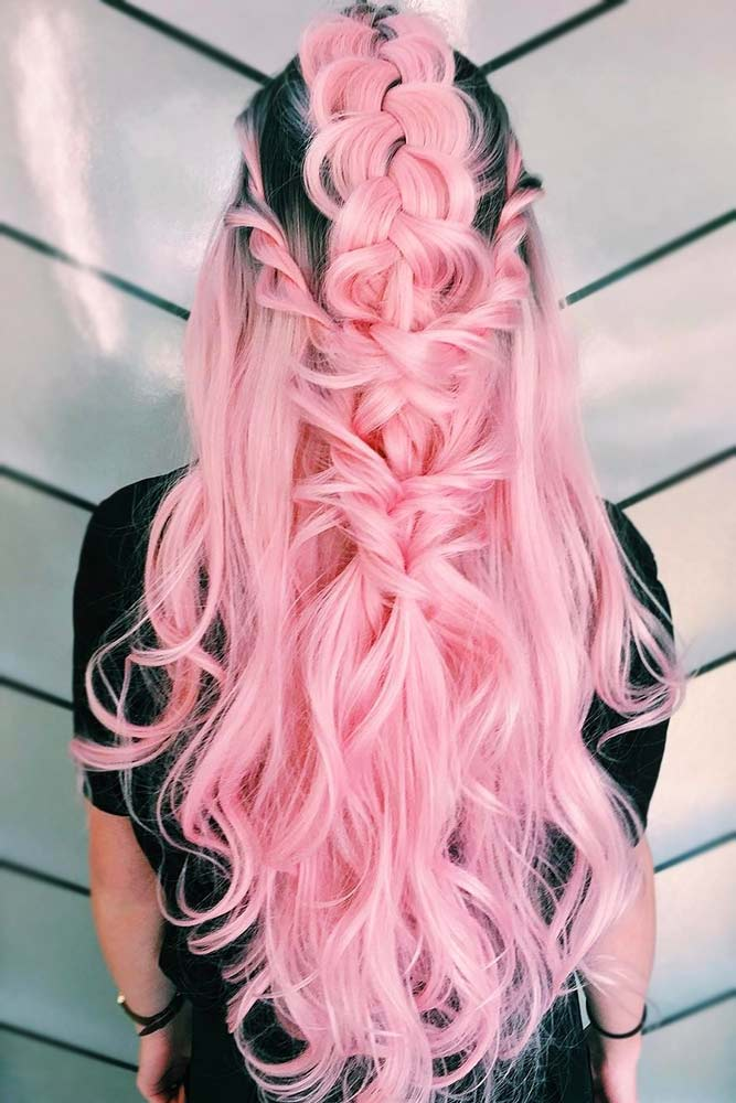 Dutch Braid With Twists Half-Up #braids #halfup #mohawk