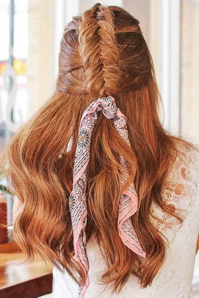 Half Up Dutch Fishtail Braid #mohawk #braids #half-up