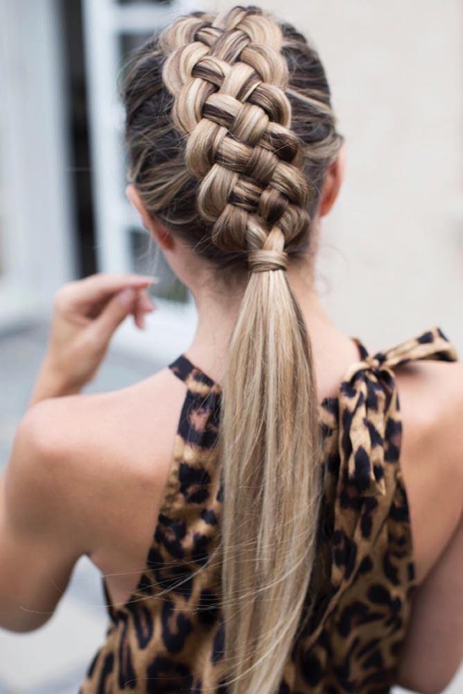 5-Strand Braided Ponytail #braids #ponytail