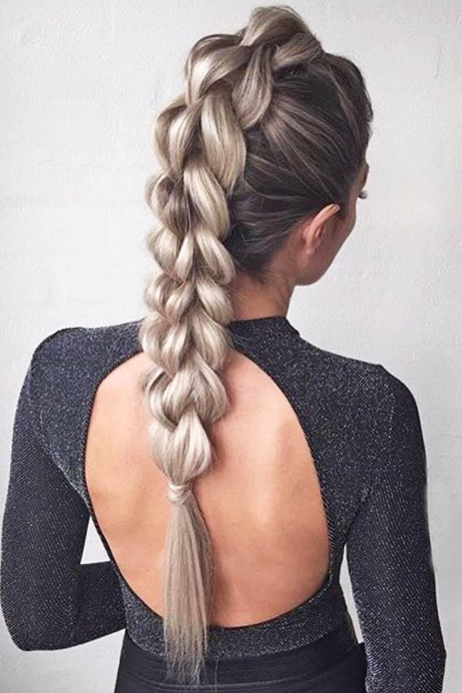 Four Strand Braid Mohawk #longhair #braids #fauxhawk