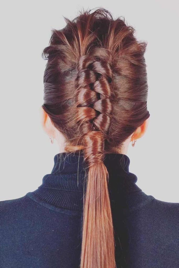 Infinity Stacked French Mohawk Braid