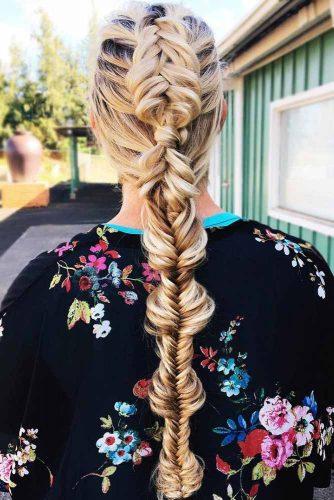 Dutch Fishtail Mohawk Braid #longhair #braids #fauxhawk