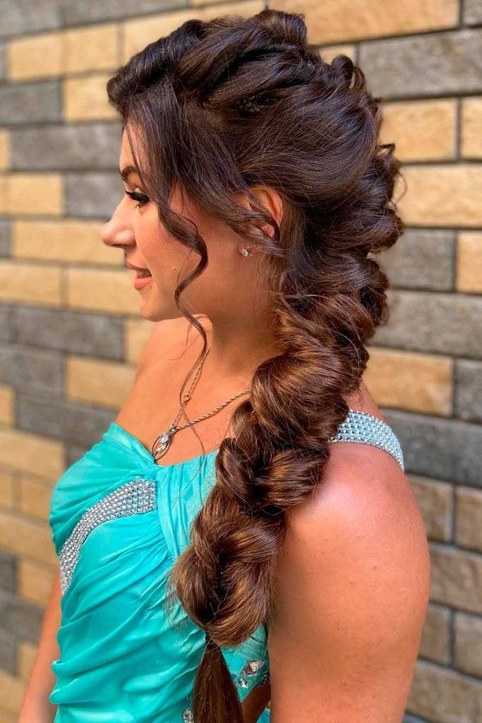 Braided Mohawk Hairstyle With Weave