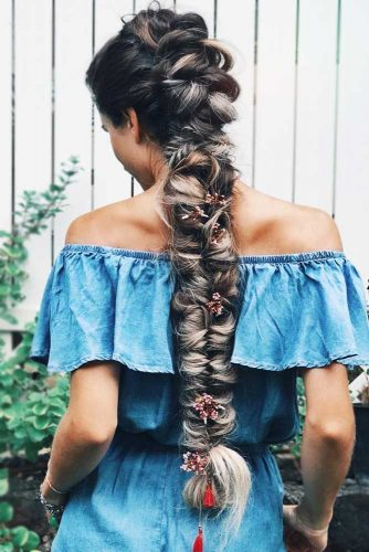 Fancy Mohawk Hairstyle For Long Hair #longhair #braids