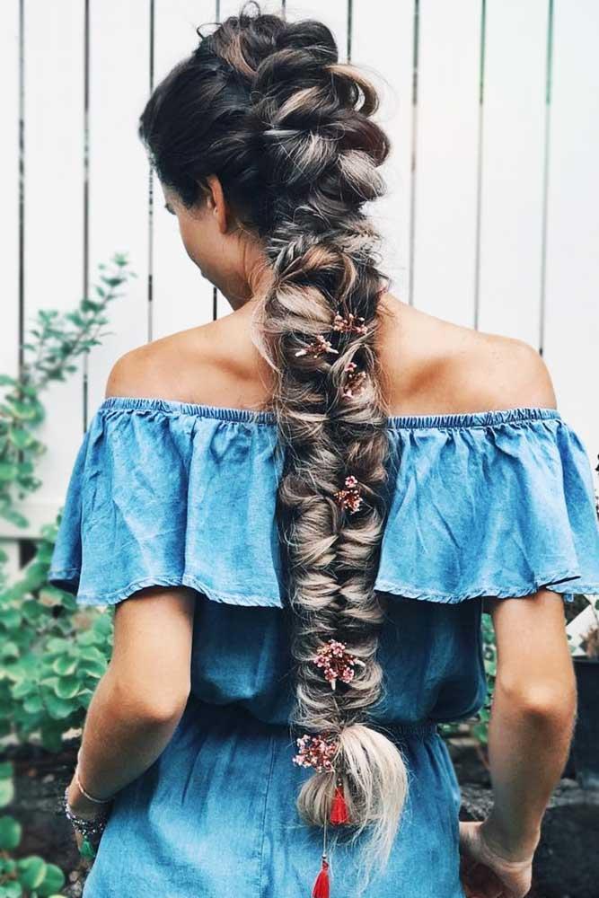 Fancy Mohawk Hairstyle For Long Hair #longhair #braids