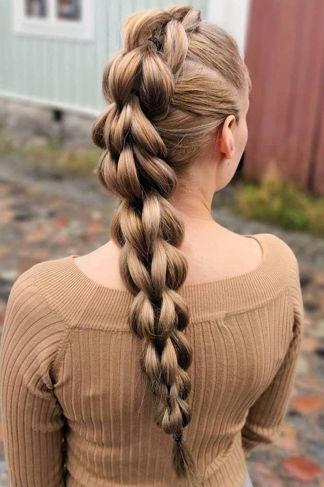 3 Strand Pull Through Mohawk Braid #braids #mohawkbraid
