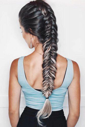 Tight Fishtail Mohawk Braid #longhair #braids