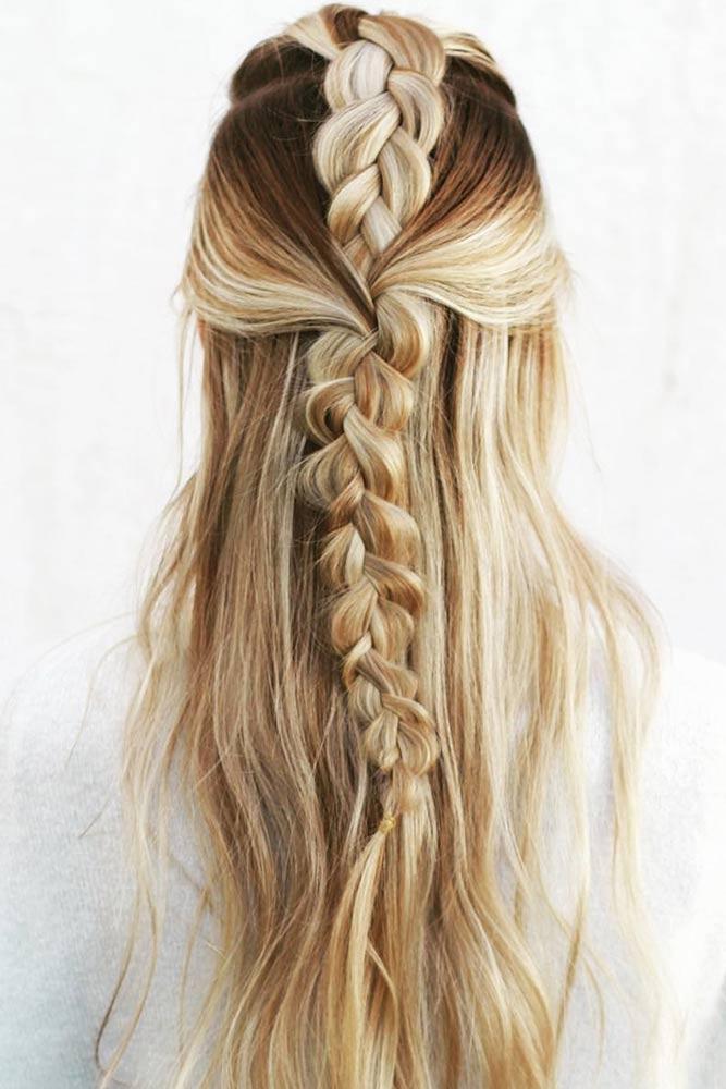 Tuxedo Braid Mohawk Style #braids #halfup #mohawk