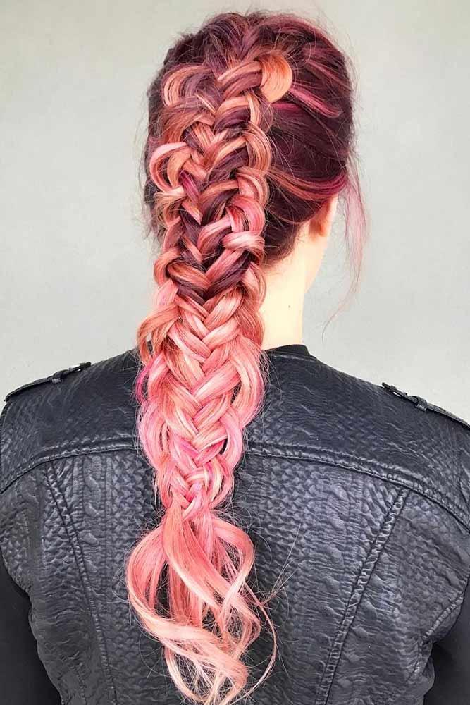 Unbelievable Twisted Edge Fishtail #longhair #braids #fauxhawk
