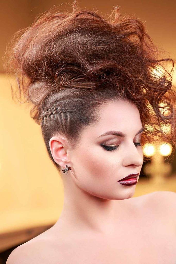 Mohawk Hairstyle With Side Dutch Braid