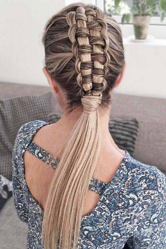 Elegant Zipper Braid Mohawk #longhair #braids #fauxhawk