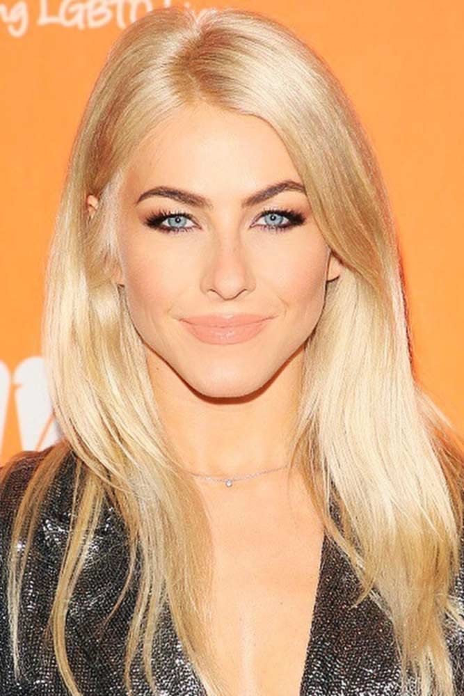 Layered Sleek And Straight Hairstyle #sleekhair #longhair #blondehair #diamondface