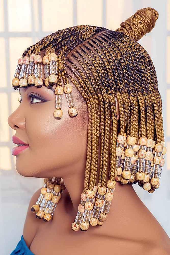 Cleopatra Style Knot Cornrows #cornrowbraids #braids