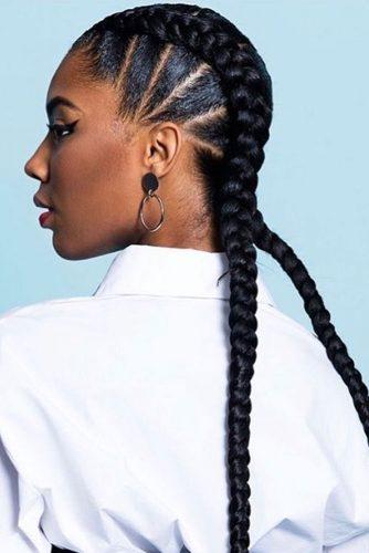 Rubber Band Stitch Braids #cornrows #braids
