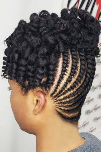 Flat Twist And Rodset #cornrowbraids #braids