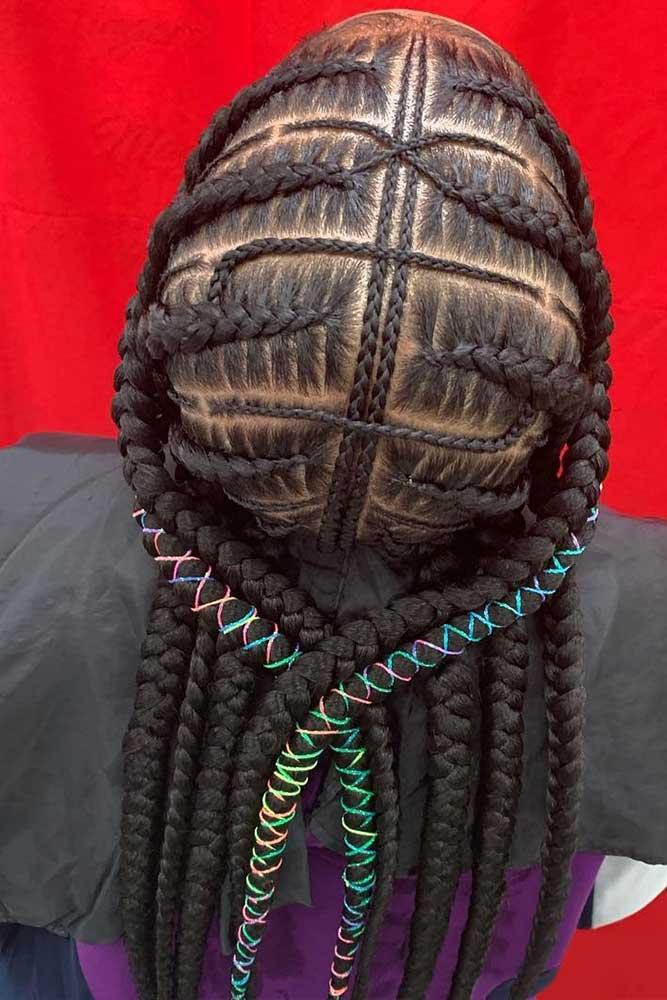 Fulani & Cornrows #cornrowbraids #braids