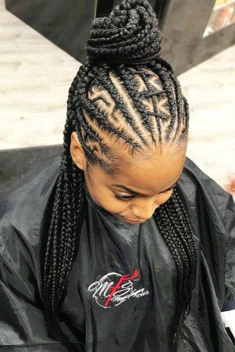 Cornrow Braids Half-Up Half Down #cornrows #braids