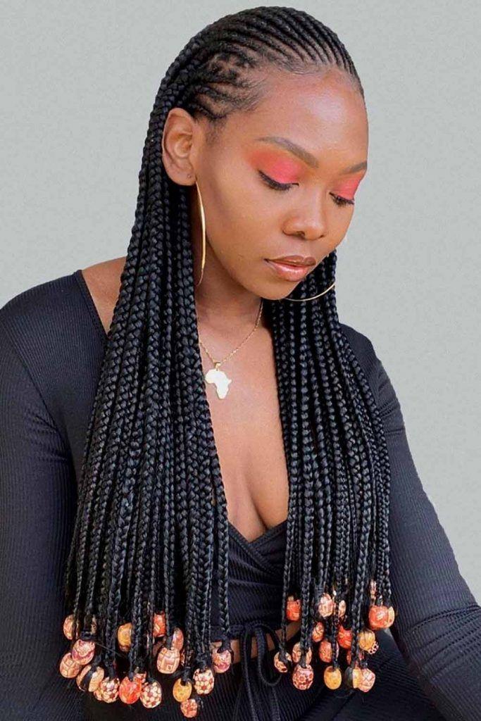 Long Cornrow Braids For Black Hair