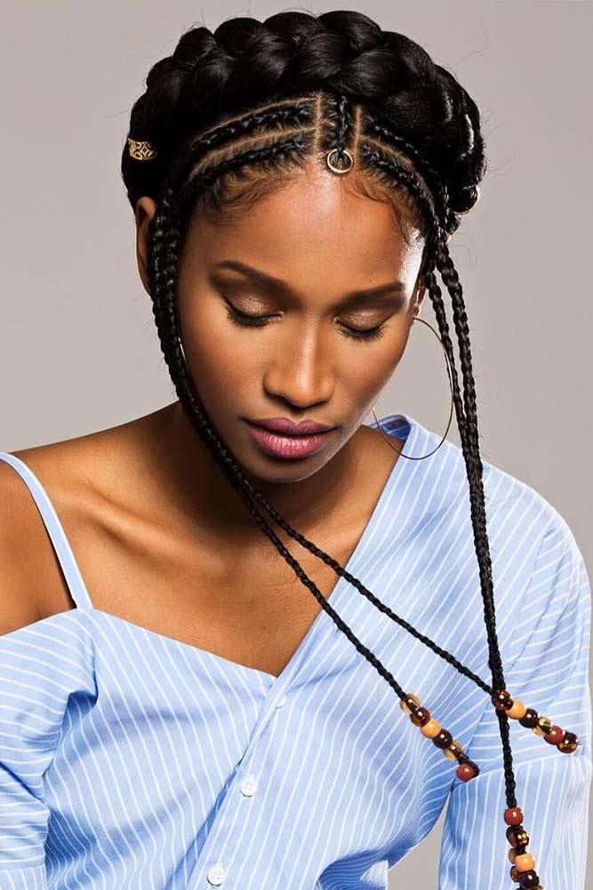 Delicate Halo Braid Hairdo #cornrows #braids #updo