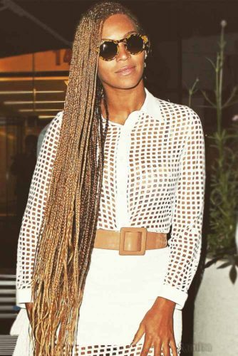 Long Side-Swept Cornrow Braids #cornrows #braids #longhair